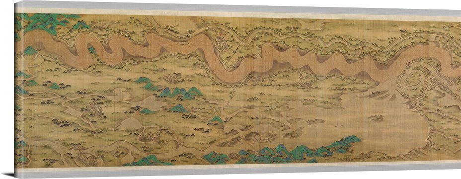 Ten Thousand Miles Along The Yellow River - Vintage Asia Maps