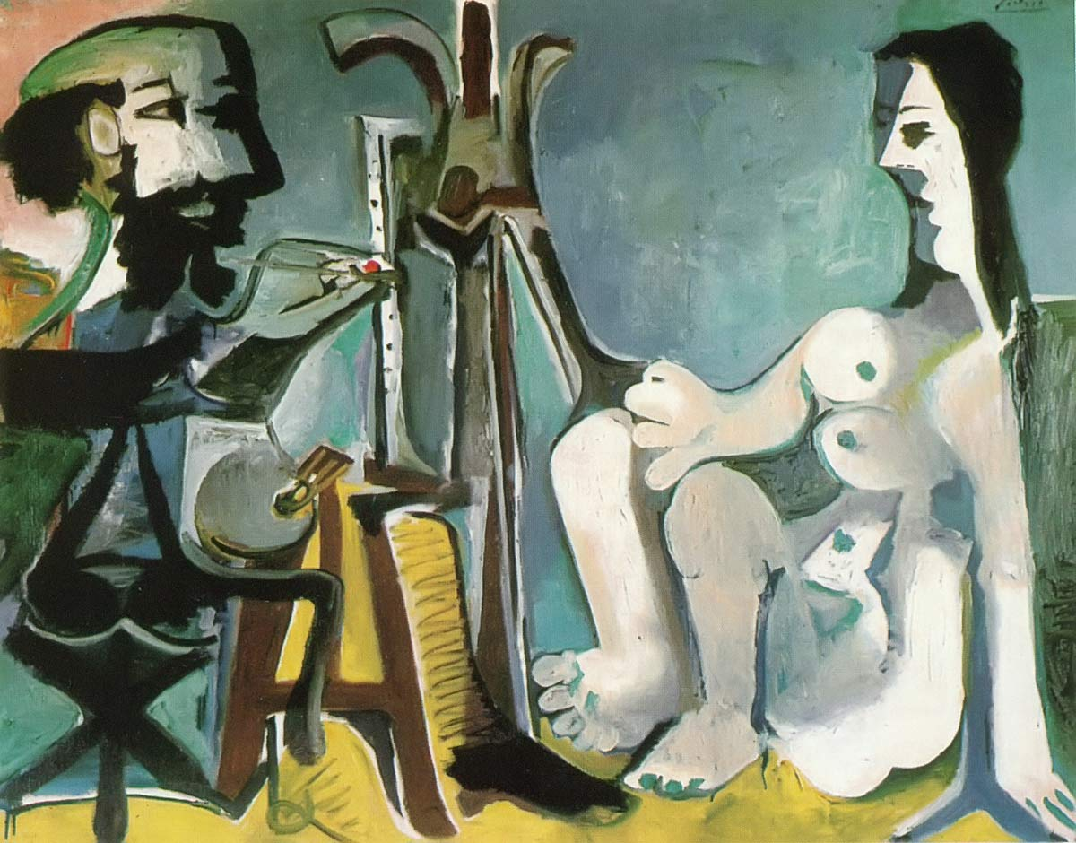 The Painter And His Model 1963 Pablo Picasso