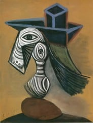 Woman In A Blue Hat 1939 Pablo Picasso