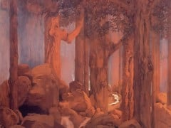 Forest Scene From Once Upon A Time by Maxfield Parrish