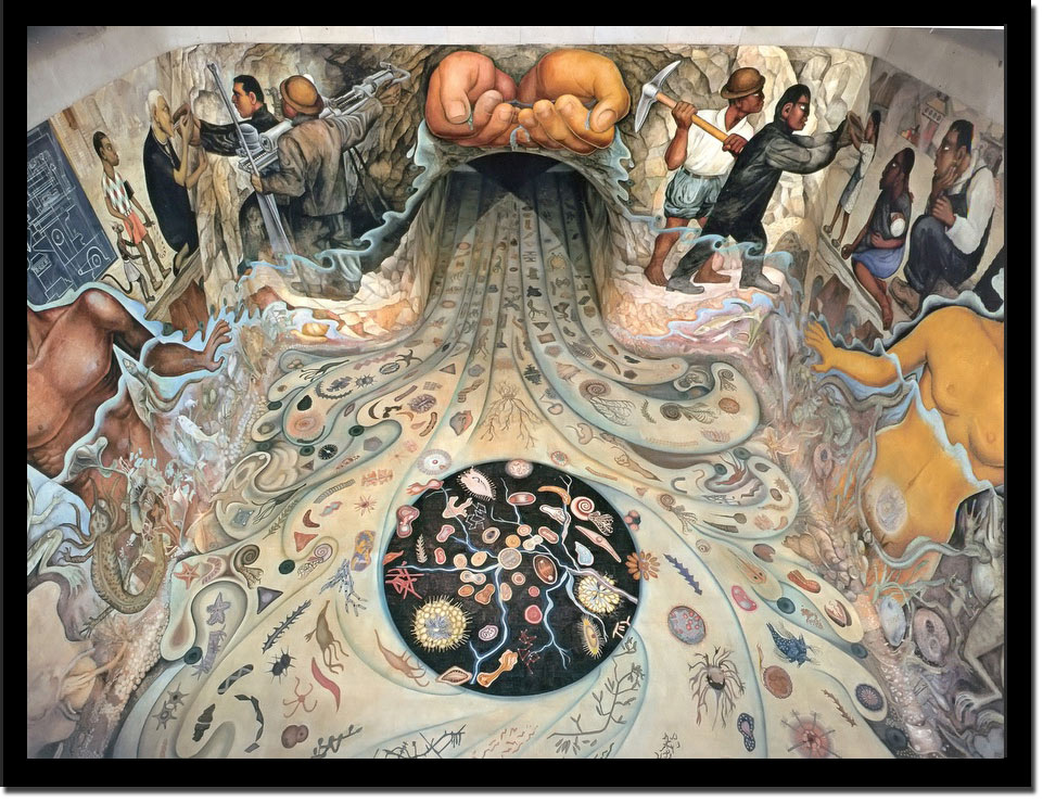 Hands From Which The Water Flows Through The Tunnel by Diego Rivera
