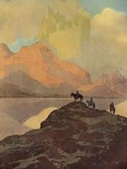 City Of Brass Illustration by Maxfield Parrish