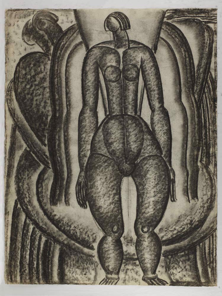 (Untitled  Standing Female Nude Facing Front With Auras) Morris Kantor