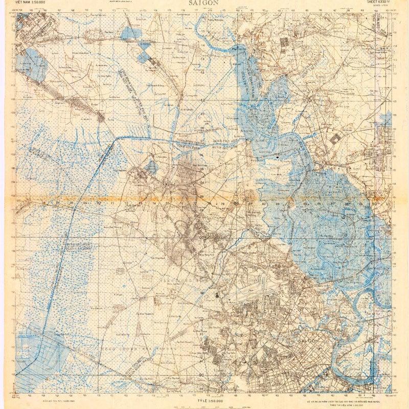 Saigon 1978 - Vintage Asia Maps