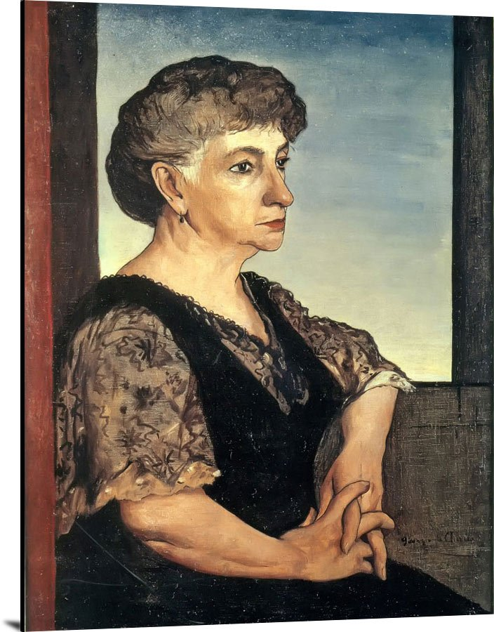 Portrait Of The Artists Mother by Giorgio De Chirico