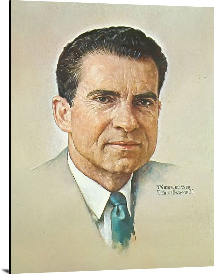 Portrait Of Nixon by Norman Rockwell