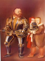 After Caravaggio by Botero