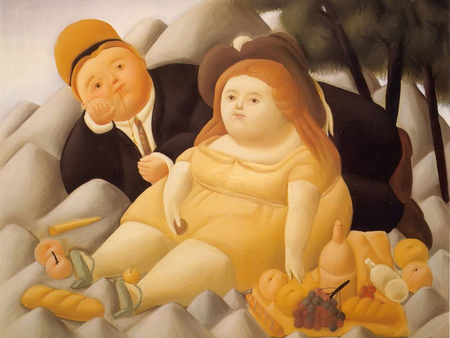 Picnic In The Mountains by Botero
