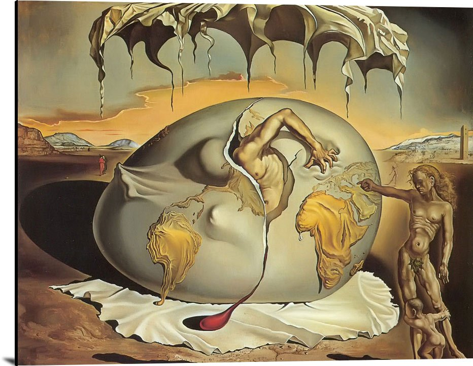 Geopolitical Child Watching The Birth Of The New Man by Dali