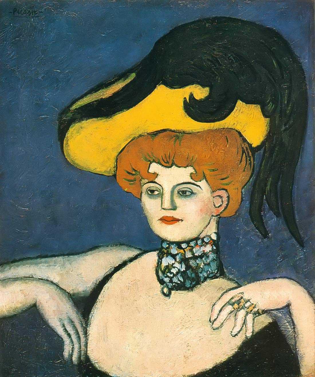 Courtesan In A Jeweled Collar Pablo Picasso
