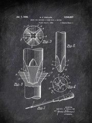 Means For Uniting A Screw With A Driver H F Phillips 1934 2 Tools by Patent