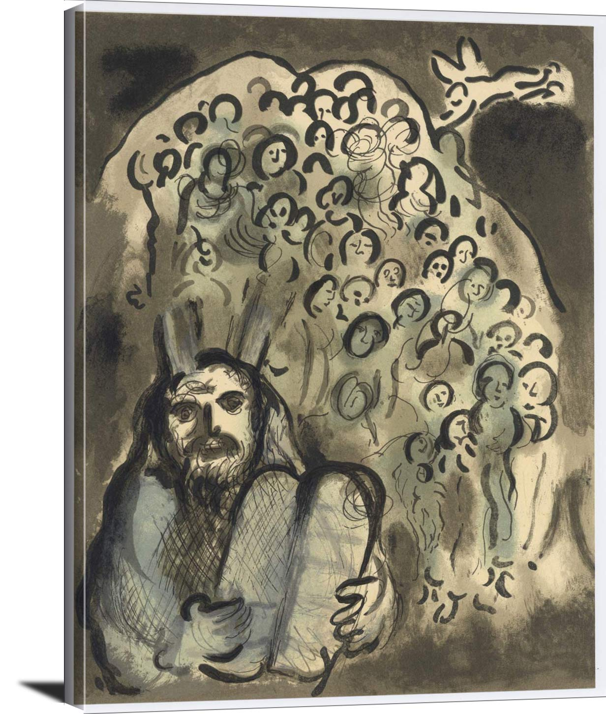 Moses And His People Marc Chagall