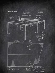 Tennis Table E D Kaser 1932 Activities by Patent