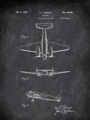 Airplane H L Hibbard 1934 Transportation by Patent
