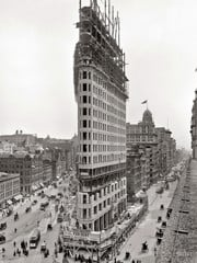Flatiron Rising 1902 by Bw Photography