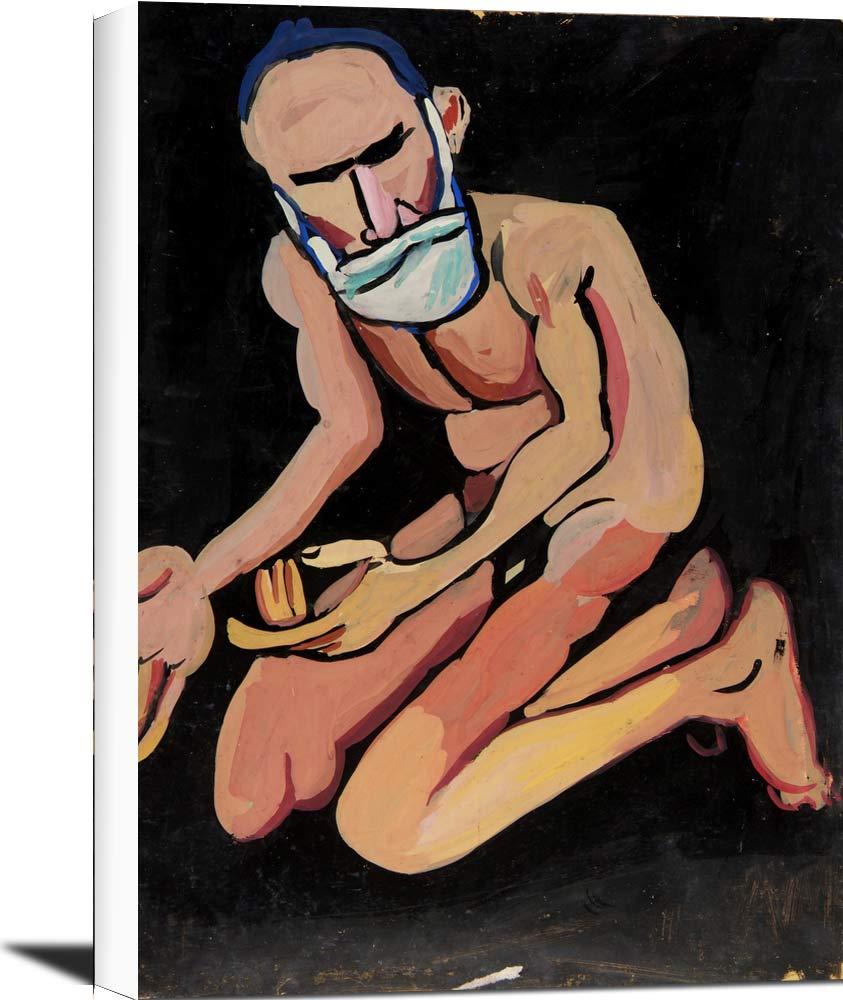 Bearded Kneeling Male Nude William H Johnson