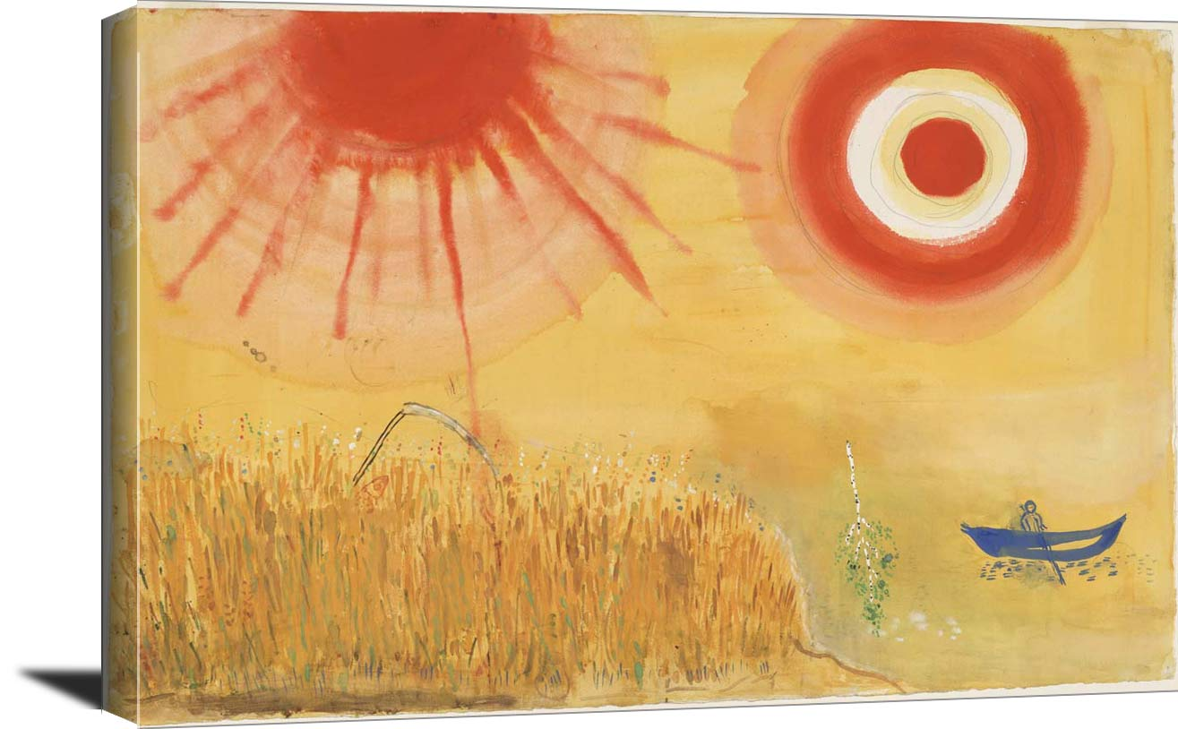 A Wheatfield On A Summers Afternoon Marc Chagall