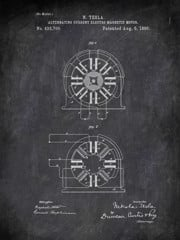 Alternating Current Eleotro Magnetic Mator N Tesla 1890 Technology by Patent