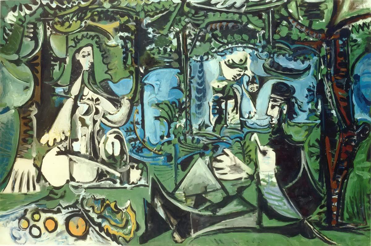 Le Dejeuner Sur Herbe After Monet Pablo Picasso