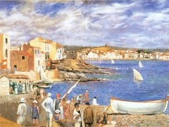 The Lione Beach In Codoques by Dali