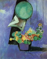 Flowers And Ceramic Plate by Henri Matisse