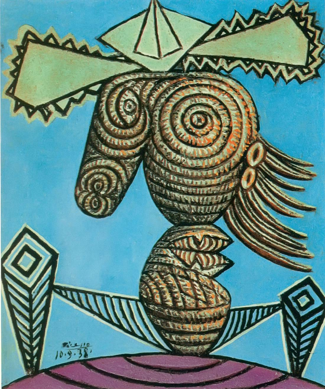 Seated Woman With A Hat 1938 Pablo Picasso