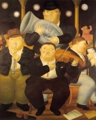 Four Musicians by Botero