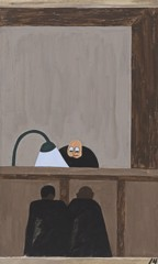 Migration Panel 14 Among The Social Conditions That Existed Which Was Partly The Cause Of The Migration Was The Injustice Done To The Negroes In The Courts by Jacob Lawrence