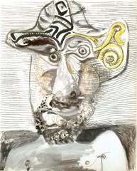 Bust Of A Man In A Hat 1972 Pablo Picasso