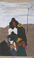 Migration Panel 28 The Labor Agent Who Had Been Sent South By Northern Industry Was A Very Familiar Person In The Negro Counties by Jacob Lawrence