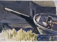 Schooner's Bowsprit by Edward Hopper