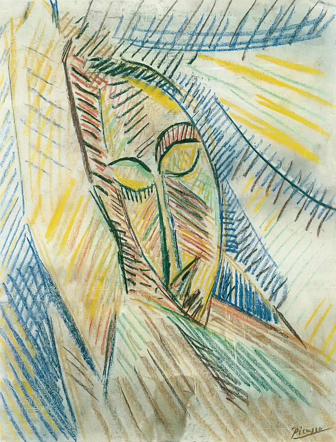 Study For Nude With Drapery Pablo Picasso