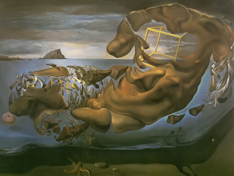 Hinoceros Disintegration Of Illissus Of Phidias by Dali