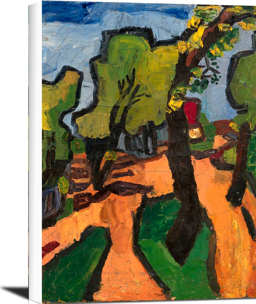 Landscape With Road And Trees William H Johnson
