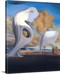 The Architectonic Angelus Of Millet by Dali