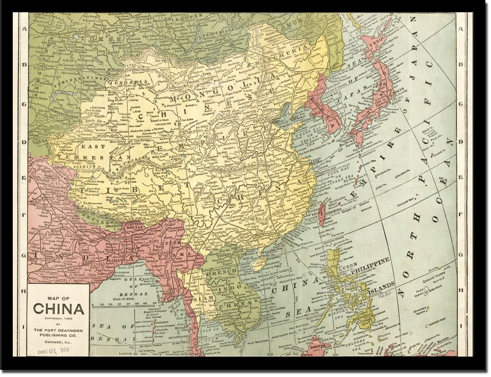 Map Of China 1900 - Vintage Asia Maps