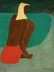 March On The Beach by Milton Avery