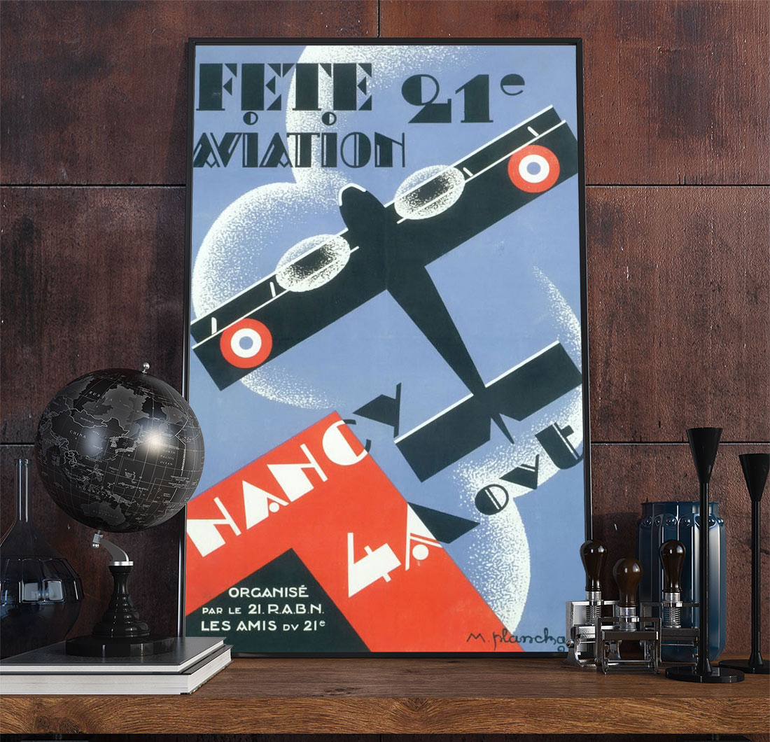 23aviation Art Deco Poster