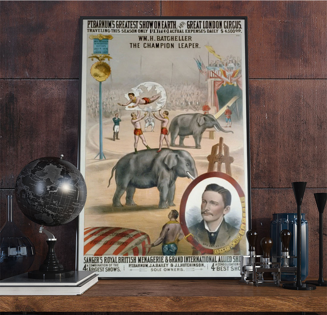 8wpaanimalb Vintage Advertisement Poster