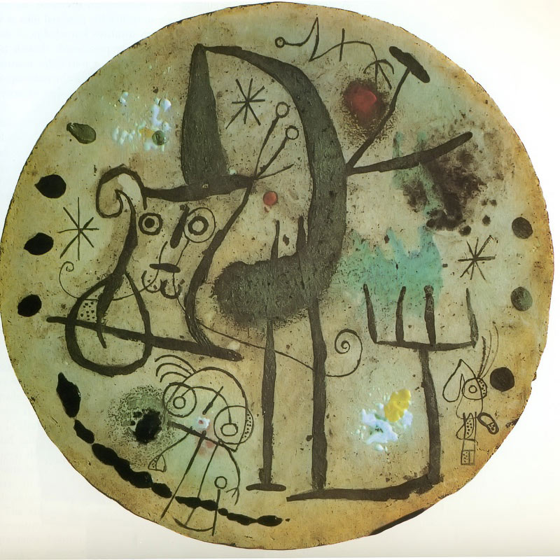 Round Plate 1956 by Joan Miro