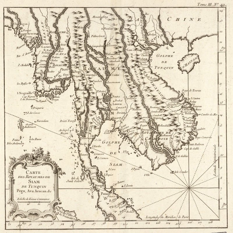 Thailand Maps Early Works To 1800 - Vintage Asia Maps