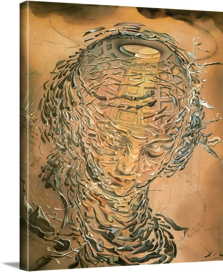 Raphaelite Head Bursting2 by Dali