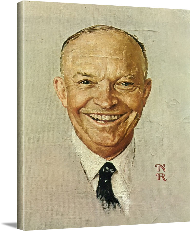 Portrait Of Eisenhower by Norman Rockwell