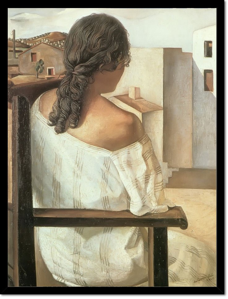 Girl Seen From Behind by Dali