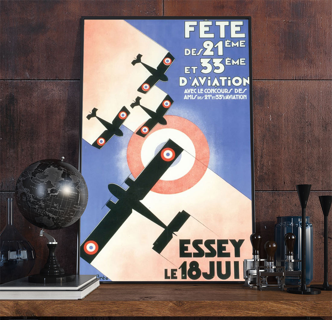 24aviation Art Deco Poster