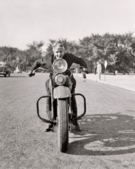Motorcycle Mama 1937 by Bw Photography