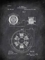 Alternating Motor N Tesla 1896 Technology by Patent