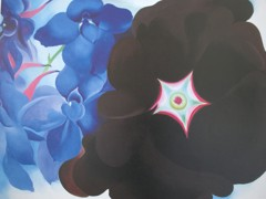 Black Hollyhock Blue Larkspur by Georgia O Keeffe