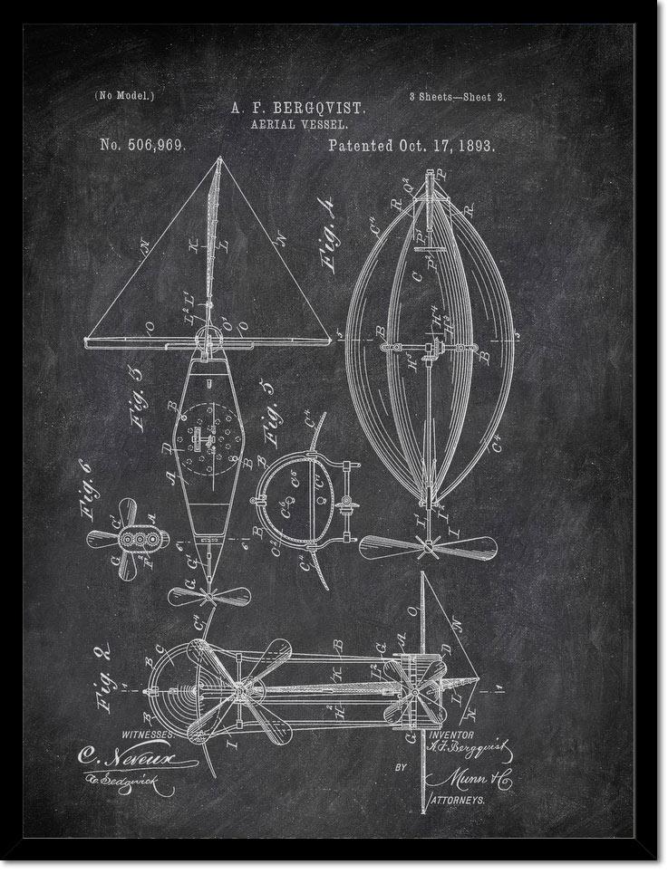 Aerial Vessel A F Bergqvist 1893 2 Transportation by Patent