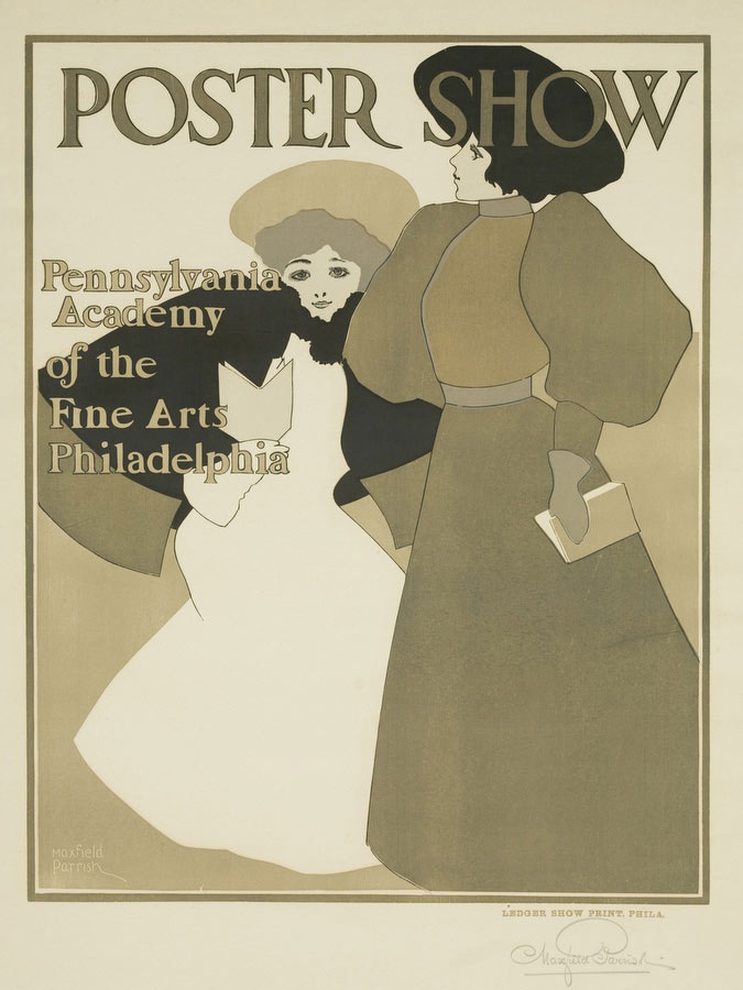 Poster Show Pennsylvania Academy Of The Fine Arts Poster by Maxfield Parrish